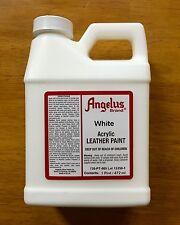Angelus White acrylic leather paint in 16oz bottle