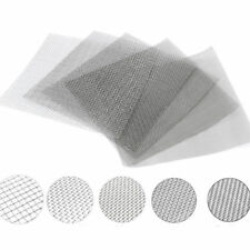 10/100/500 Mesh 304 Stainless Steel Woven Wire Filtration Filter Sheet 30x30cm
