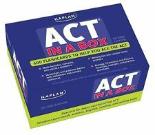 Kaplan Test Prep: Kaplan ACT in a Box by Kaplan Higher Education Staff 2nd Edit.