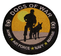 DOGS OF WAR MILITARY K-9 CANINE PATCH OEF OIF OPERATION IRAQI ENDURING FREEDOM