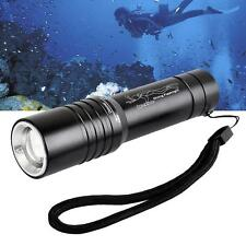 NEW CREE T6 LED Waterproof Diving Flashlight Torch 3500LM For 18650 Zoomable NZ
