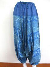 Ladies Men Harem Pants Bohemian Boho Hippie Yoga Genie Hmong Trousers Cotton HMF