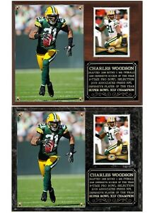 Charles Woodson Green Bay Packers Photo Card Plaque