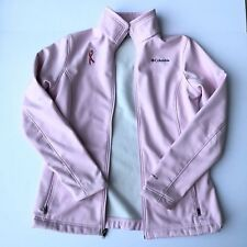 Women's Pre-owned Columbia Breast Cancer Awareness Jacket Full Zip Size M Pink