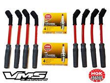 VMS 10MM RED SPARK PLUG WIRES SET CHEVY GMC TRUCK VORTEC ENGINES W NGK PLATINUM
