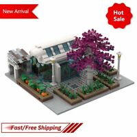 MOC Modular City Garden View Model Assemble Building Block Bricks Toys for Gifts
