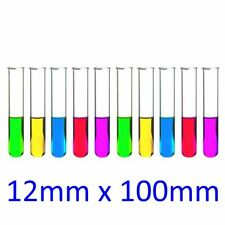 10 x Borosilicate Boiling Test Tube 12mm x 100mm with rim