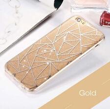 Soft TPU Bumper Case Diamonds Pattern Glitter Hard Cover For iPhone 8 X 7 6s +