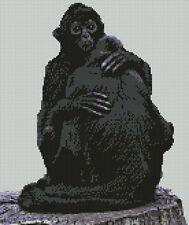"Black Monkeys Counted Cross Stitch Kit 10"" x 11.75"" 25.6cm x 29.9cm A2327"