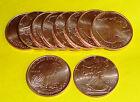 10 - Walking Liberty American Eagle Coins 1/2 oz each .999 Copper Bullion 20-100