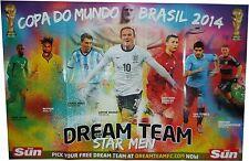 THE SUN NEWSPAPER WORLD CUP WALL CHART BRAZIL 2014 BRAND NEW