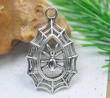 wholesale 20pcs  tibetan silver spider charm pendants fit bracelet or necklace