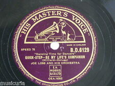 78rpm JOE LOSS ORCH be my life`s companion / unforgettable