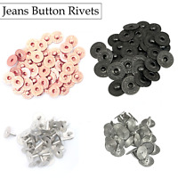 10pcs to 500pcs Set 9.5mm Brass Buttons Rivets Fasteners for Jeans Bags Jackets
