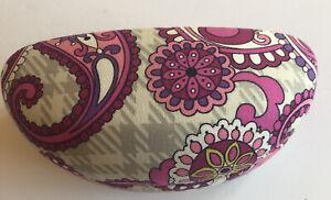 Vera Bradley Sunglasses Case Hardshell Pink Paisley Clamshell