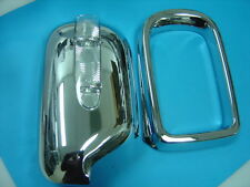 Chrome Mirror Covers with LED Indicators Set for BMW E39 5-Series & E38 7-Series