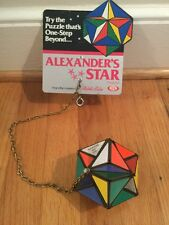 Vintage Rubiks Cube Alexander's Star Puzzle Store Display Ideal