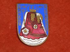 BROCHE religieuse Emaux enamel Notre dame Luxembourg Vierge & enfant