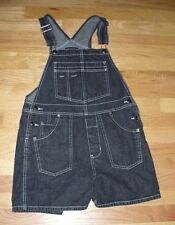 SIZE M JUNIOR'S / WOMEN'S BLACK DENIM  BIB OVERALL SHORT SHORTALLS - XHILIRATION