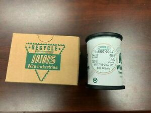 **807 Grams / 1 Roll MWS Wire Industries Magnet Wire M1177/15-01C0405 Green