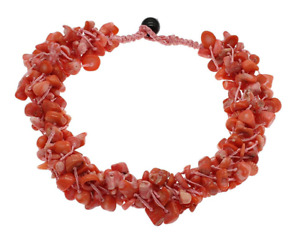 Multi-strand Natural pink colour Coral Chunky Necklace for Women