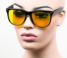 Lot of 3 Pair P40 Yellow HD Retro Night Driving Large Wayfarer Sunglasses