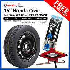 "HONDA CIVIC 2005-2017 16"" FULL SIZE STEEL SPARE WHEEL & TYRE  + TOOL KIT"