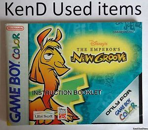NINTENDO GAMEBOY COLOR The Emperor's new groove instruction booklet ENG/NL/DA/SV