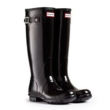 WAREHOUSE SALE New Ladies Gloss Hunter Wellies Wellington Boots Black Size UK 5