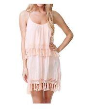 Rip Curl Venture Dress Cotton Peach Sundress Coverup Beach  L Large X Large Euc
