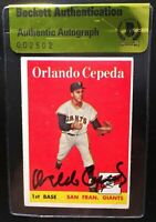 1958 Topps #343 Orlando Cepeda BAS Beckett Signed Autograph Giants RC Card HOF