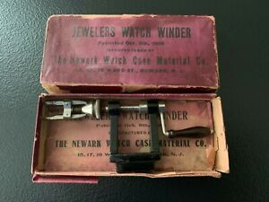 Antique Vintage JEWELERS WATCH WINDER w/ box THE NEWARK WATCH CASE MATERIAL CO.