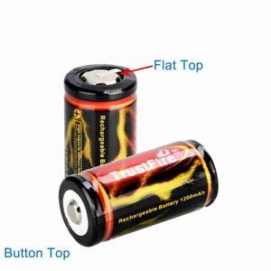 18350 1200mAh 3,7V Li-Io-Akku geschützt - Flat Top / Button Top - flach / erhöht