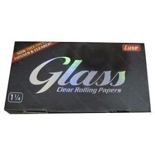 Glass Clear Rolling Papers 1 1/4 Size 5 Packs 50 Leaves Per Pack
