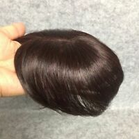"""100% human hair replacement short long top piece hairpiece wiglet clip on 7""""~16"""""""