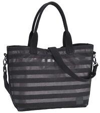 Nixon Bag Guide Courier Bag Tote Messenger Black Stripe NEW
