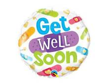 """18"""" GET WELL SOON REST UP POORLY SICK PLASTERS HELIUM FOIL BALLOON 57304"""