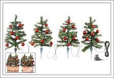 Weihnachtsbäume 4er mit Deko - Außen + Innen - Weihnachtsbaum Christbaum Baum