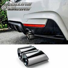 "3.5"" Dual Exhaust Muffler Tips For BMW 4er F32 F33 F36 435i Glossy Black"
