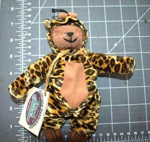 """1999 GANZ COTTAGE MASQUERADE COLLECTIBLES Floppy """"Growl"""" Leopard by LORRAINE"""