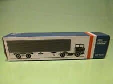 LION CAR 59 DAF TRUCKS 2800 EUROTRAILER - 1:50 GOOD * ONLY EMPTY BOX * (29)