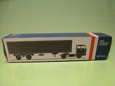 LION CAR 59 DAF TRUCKS 2800 EUROTRAILER - 1:50 GOOD * ONLY EMPTY BOX * (29)