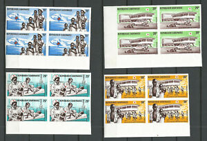 Gabon 1969 - Air Mail n° 88-91 Inperforated MNH ** (4 Blocs of 4 stamps)