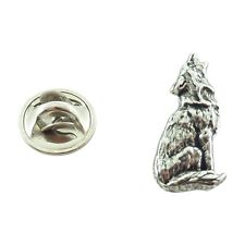 Wolf Howling ~ Mini-Pin ~ CWG-M042MP ~ Pewter
