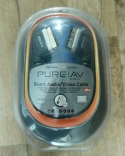 Belkin PURE AV SCART Cable Audio Vídeo Chapado en Oro 2.4M Nuevo Free UK Post