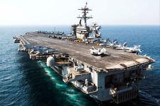 CVN 71 USS THEODORE ROOSEVELT INHERENT RESOLVE 8x12 SILVER HALIDE PHOTO PRINT