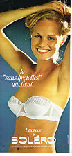 PUBLICITE ADVERTISING 114  1980  BOLERO  soutien gorge sans bretelles LUCRECE