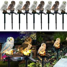 Waterproof Solar Led Light Owl Animal Ornament Lamp Garden Path Lawn Decor Usa