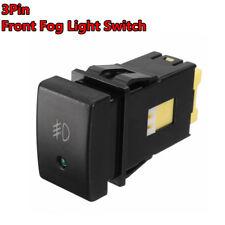 3Pin Black Front Fog Lamp Bulb Light Switch Button For Suzuki Grand Vitara Jimny