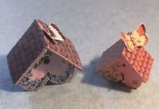 Dollhouse Miniature Birdhouses with Butterflies Kit - 1:12 Scale